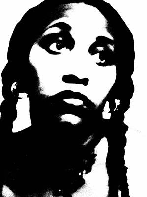 African American Girl P7292079 Art Print