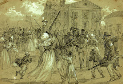 African-american Drawing - African American Soldiers Mustered Out At Little Rock by Quint Lox
