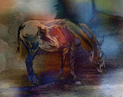 Donkey Digital Art - African Ass-horse-featured In Comfortable Art-nature Photography And Newbies Groups by EricaMaxine  Price