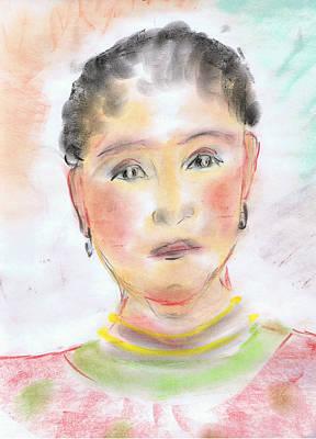 Gold Earrings Painting - African Beauty by Karen Jane Jones
