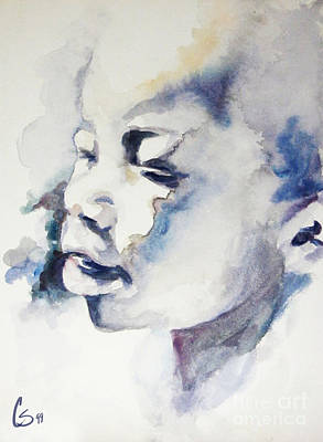Primitive Drawing - African Boy by Tamer and Cindy Elsharouni