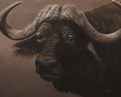 Painting - African Buffalo by Tammy  Taylor