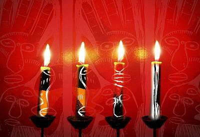 African Candles Art Print
