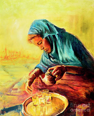 Painting - African Chai Tea Lady. by Sher Nasser