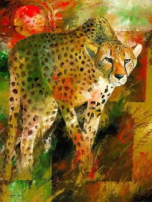 Painting - African Cheetah by Christiaan Bekker