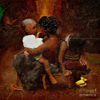 Painting - African Children At Play by Vannetta Ferguson