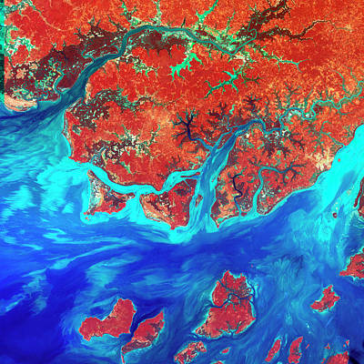 Guinea Wall Art - Photograph - African Coastline by Nasa/science Photo Library