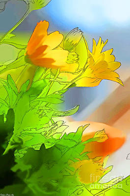 Photograph - African Daisy I - Digital Paint by Debbie Portwood