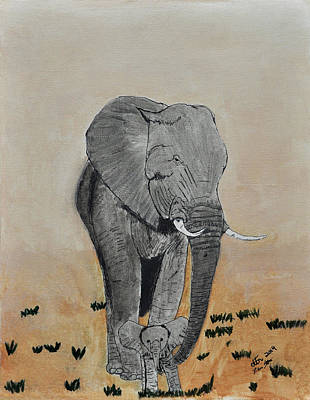 African sand paintings page 3 of 5 fine art america african sand painting african elephants by dalton sexton sciox Image collections