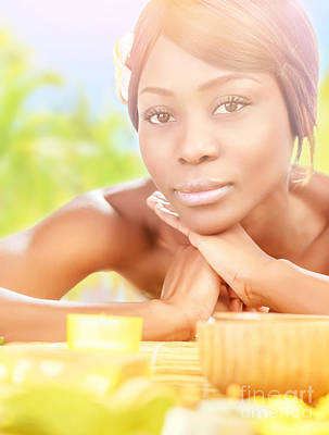 African Resort Photograph - African Female In Spa by Anna Om