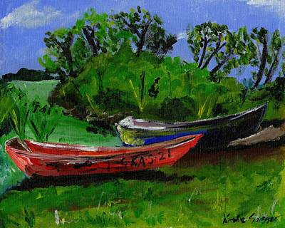 Painting - African Fishing Boats by Katie Sasser