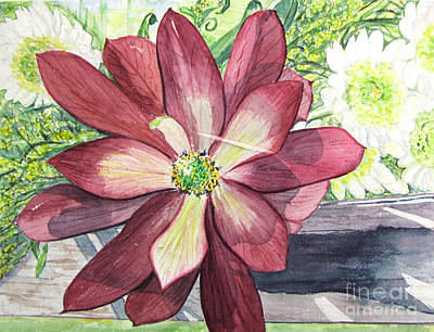 Art Print featuring the painting African Flower by Carol Flagg