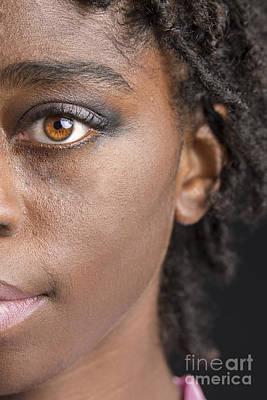 Photograph - African Girl Eye 1193.02 by M K Miller