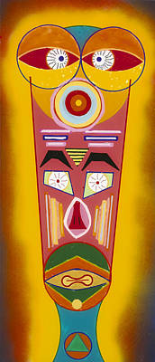 Painting - African Head 1 by Patrick OLeary