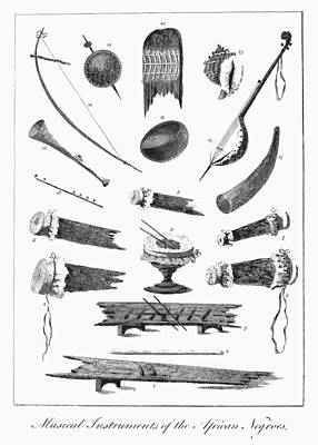 1796 Photograph - African Instruments, 1796 by Granger