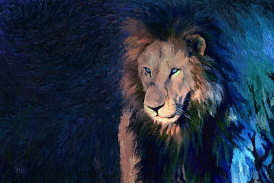 African Lion Original by Shubnum Gill