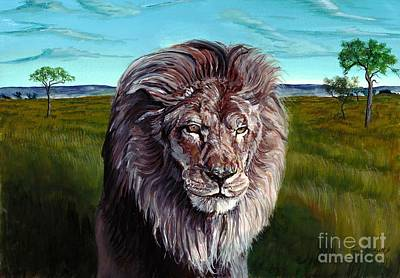 Painting - African Lion by Tom Blodgett Jr
