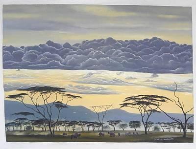 Painting - African Magic by Hilton Mwakima
