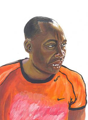 Painting - African Man by Emmanuel Baliyanga