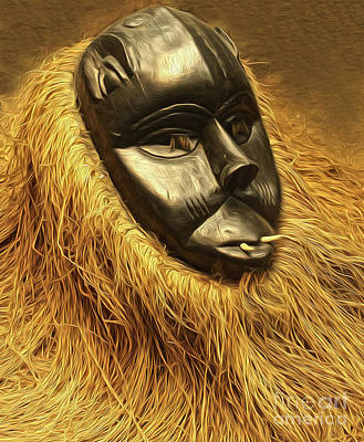 Painting - African Mask by Gregory Dyer