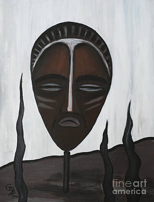 Tala Painting - African Mask II by Eva-Maria Becker