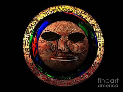 Art Print featuring the digital art African Mask Series 2 by Jacqueline Lloyd
