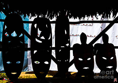 African Masks Art Print by Marco Affini