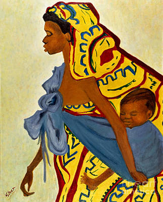 African Mother And Child Art Print
