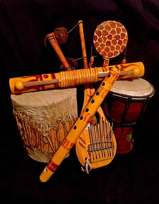 Photograph - African Musical Instruments by Denise Mazzocco