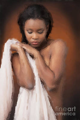 African Nude Looks Shy 1037.02 Art Print