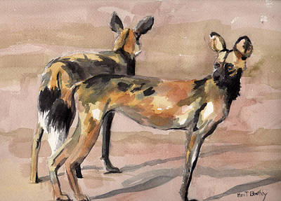 Painting - African Painted Dogs by Mimi Boothby