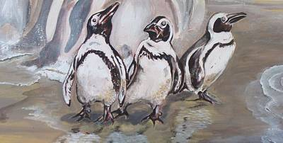 Jackass Painting - African Penguin by Catherine Calder
