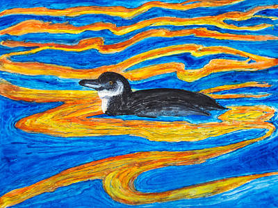 Painting - Galapagos Penguin by Patricia Beebe