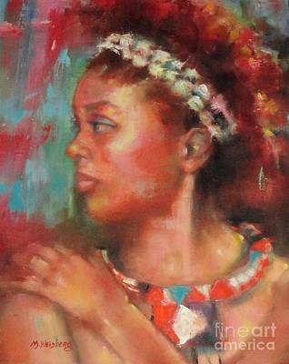 African Woman Painting - African Princess by Marilyn Weisberg