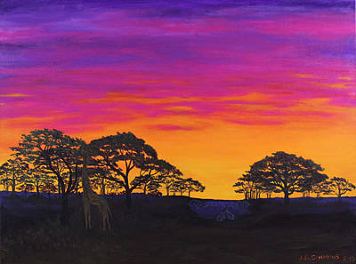 Art Print featuring the painting African Sky by Janet Greer Sammons