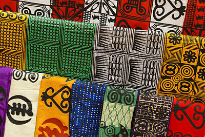 Photograph - African Textiles by Michele Burgess