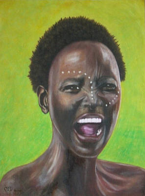 African Tribal Woman Original by Dylan Williams