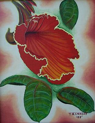 Painting - African  Tulip Tree by Thomas F Kennedy
