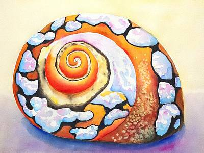Painting - African Turbo Shell by Carlin Blahnik CarlinArtWatercolor