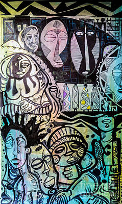 African Village Original by Robert Daniels