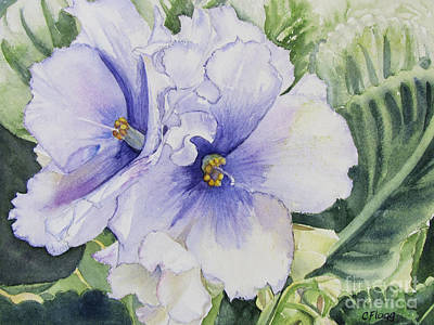 Painting - African Violet by Carol Flagg