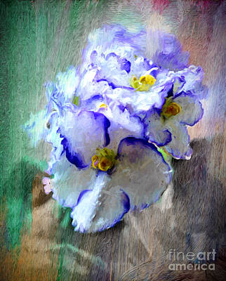 Impressionist Mixed Media - African Violet by Jim  Hatch
