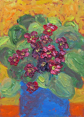 Painting - African Violet by Susan  Spohn