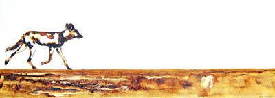 Endangered African Wild Dog - Original Artwork Art Print