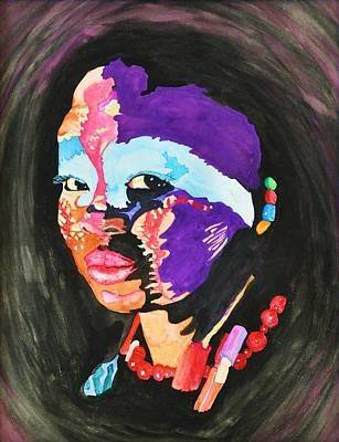 Drawing - African Woman by Glenn Calloway