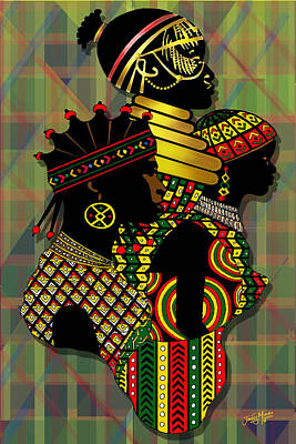 African Women Art Print by James  Mingo