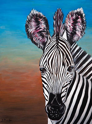 Painting - African Zebra by Donna Proctor