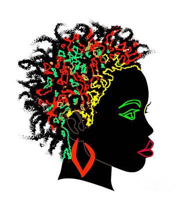 Afrikan Goddess Art Print by Respect the Queen