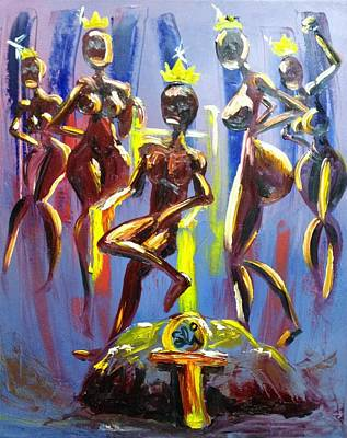 African Painting - Afrikan Love King by Sean Ivy aka Afro Art Ivy