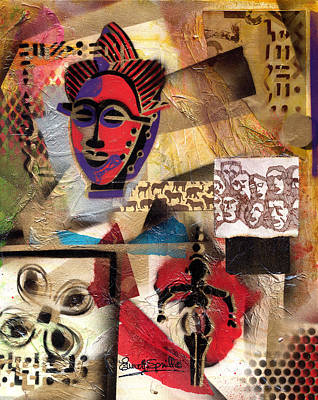 Afro Aesthetic B Art Print by Everett Spruill